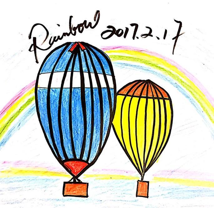 非洲旅行中看到的热气球-rainbow简笔画作品op.51